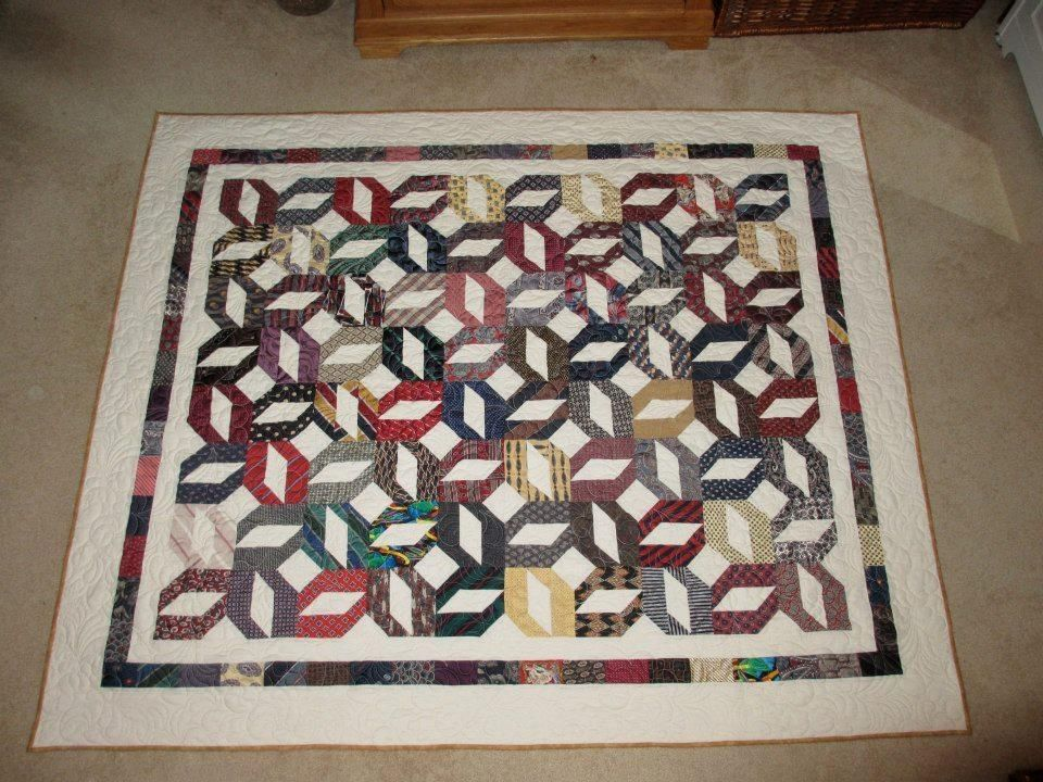 Handmade Necktie Quilt By Live Laugh Love Create
