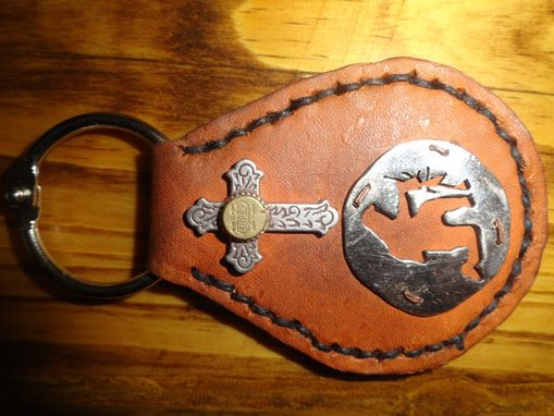 Custom Made God, Guns, And The American Soldier Key Fob