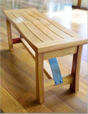 Custom Made Ponte Vecchio White Oak Bench