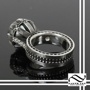 Custom Made Black Pearl Statement Ring