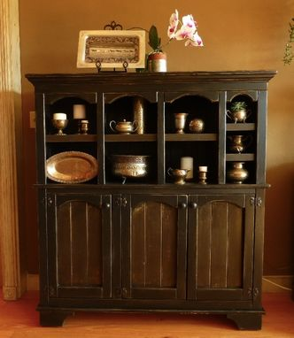 Custom Made Arched Cubby Cabinet