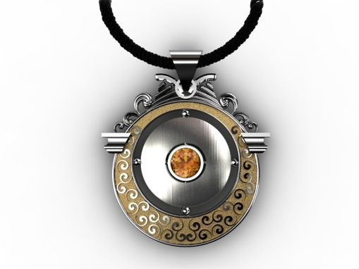 Custom Made Modern Meets Vintage Circular Pendent Design