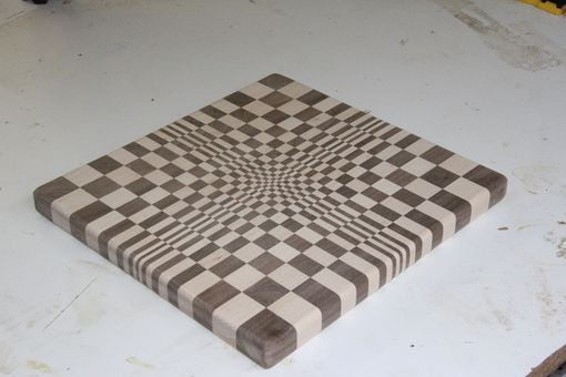 Custom Made Cutting Board, Optical Illusion
