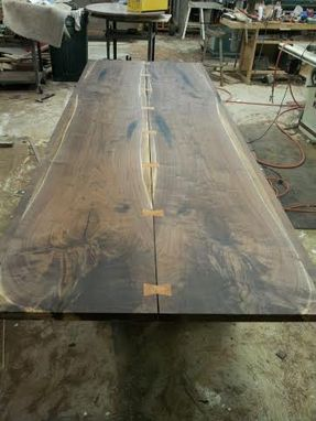 Custom Made Solid Wood Contemporary Dining Table