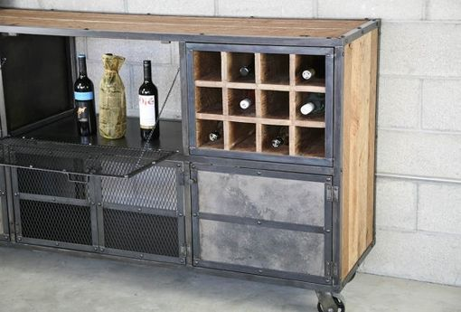 Buy A Hand Crafted Reclaimed Wood Liquor Cabinet Bar Vintage Industrial Urban Modern Style