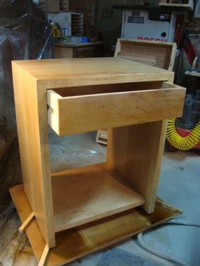 Custom Made Matched Set Of Maple Nightstands With Spalted Maple Drawer