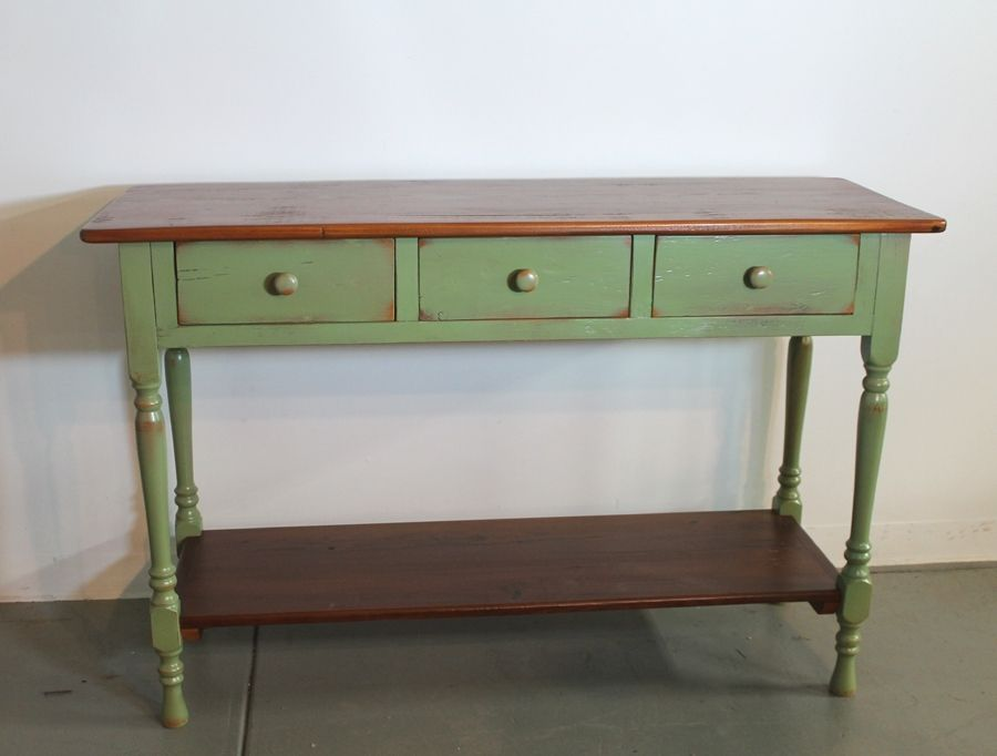 Hand Made Green Farmhouse Console By ECustomFinishes Reclaimed - Old fashioned side table