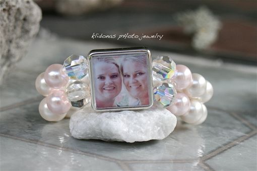 Custom Made Wedding Bracelet , Photo Bracelet, Bridesmaids Bracelet, Brides Bracelet