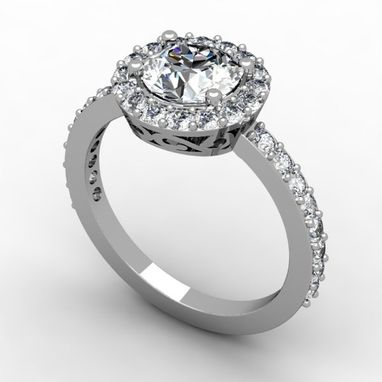 Custom Made The Perfect Halo Engagement Rings