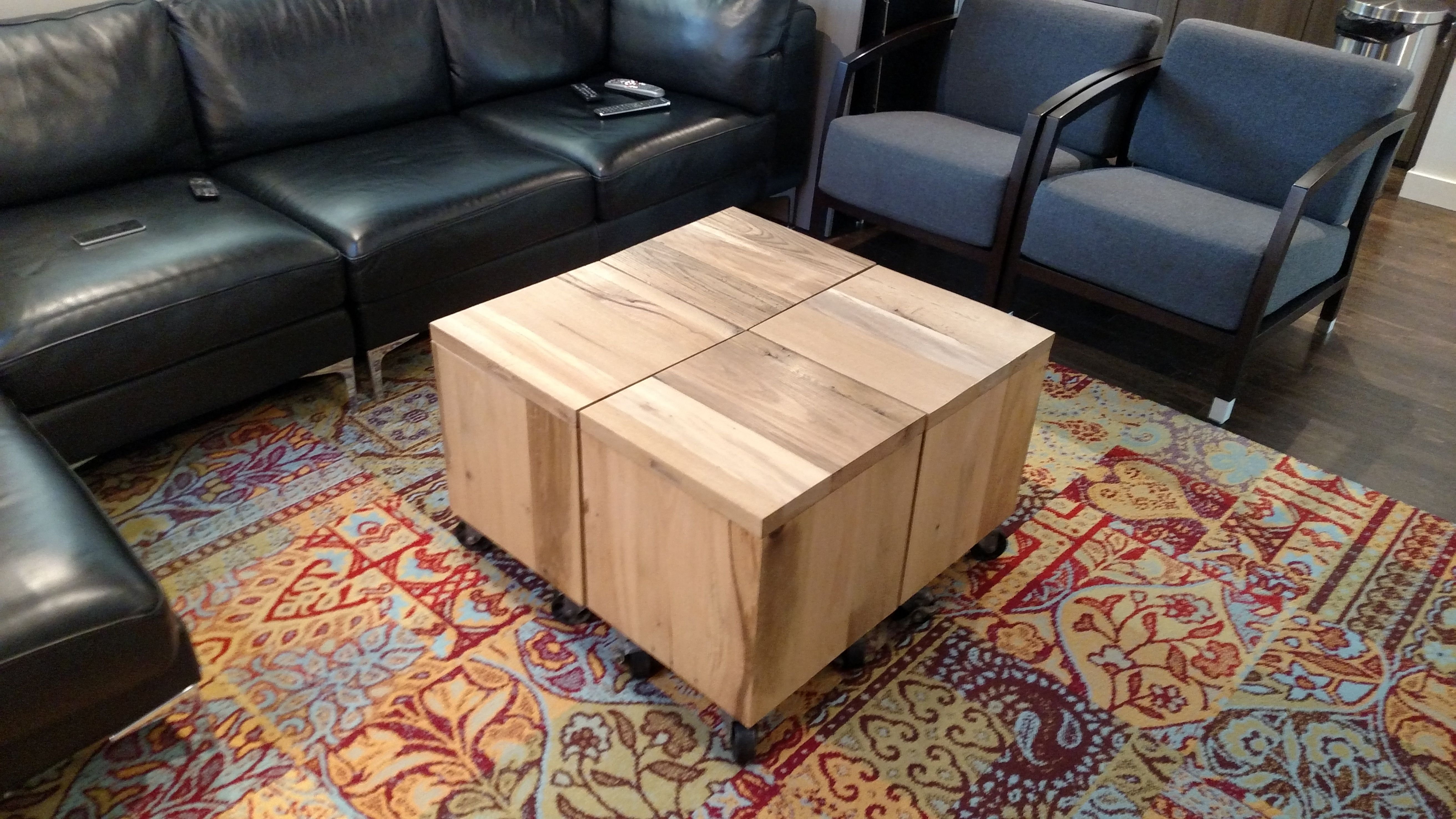 Buy a Handmade Reclaimed Wood Cube made to order from re dwell