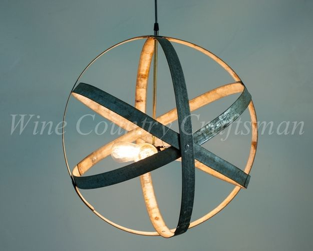 Hand Made Atom Premier Wine Barrel Ring Pendant Chandelier By Country Craftsman Custommade