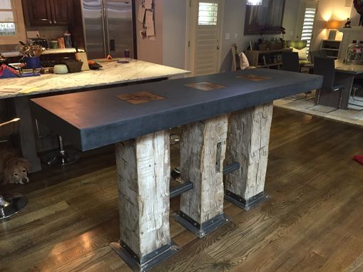 hand  modern kitchen island concrete  denver  metz woodworks custommadecom