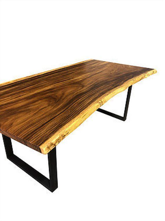 Custom Made Live Edge Dining Table Monkey Pod 7 Foot