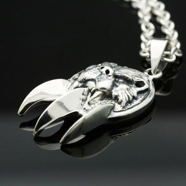 Custom Made Sterling Silver Bear Claw Pendant