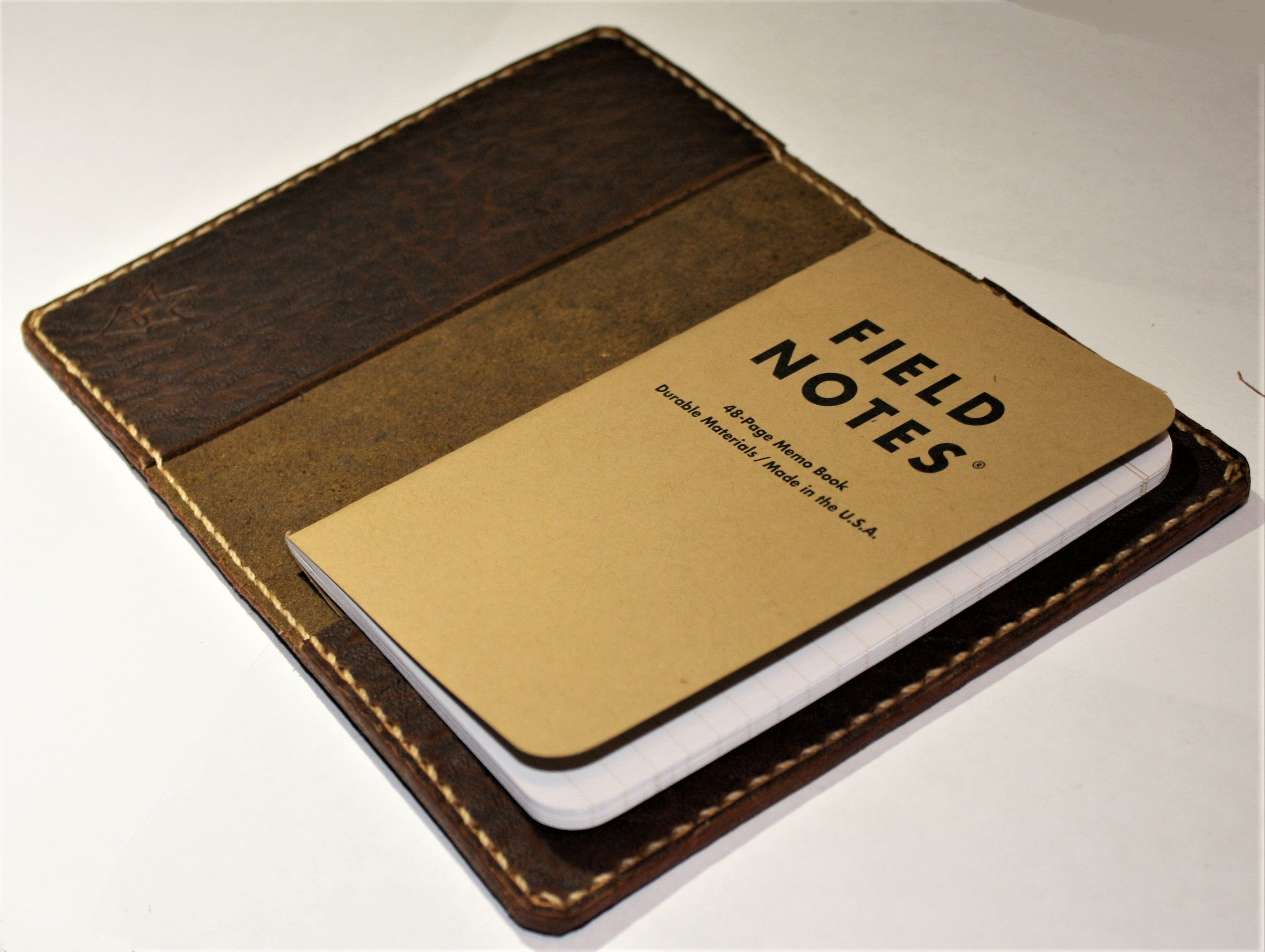 JP Leathercraft Handmade SCRIBO Field Notes Cover Wallet Natural Leather