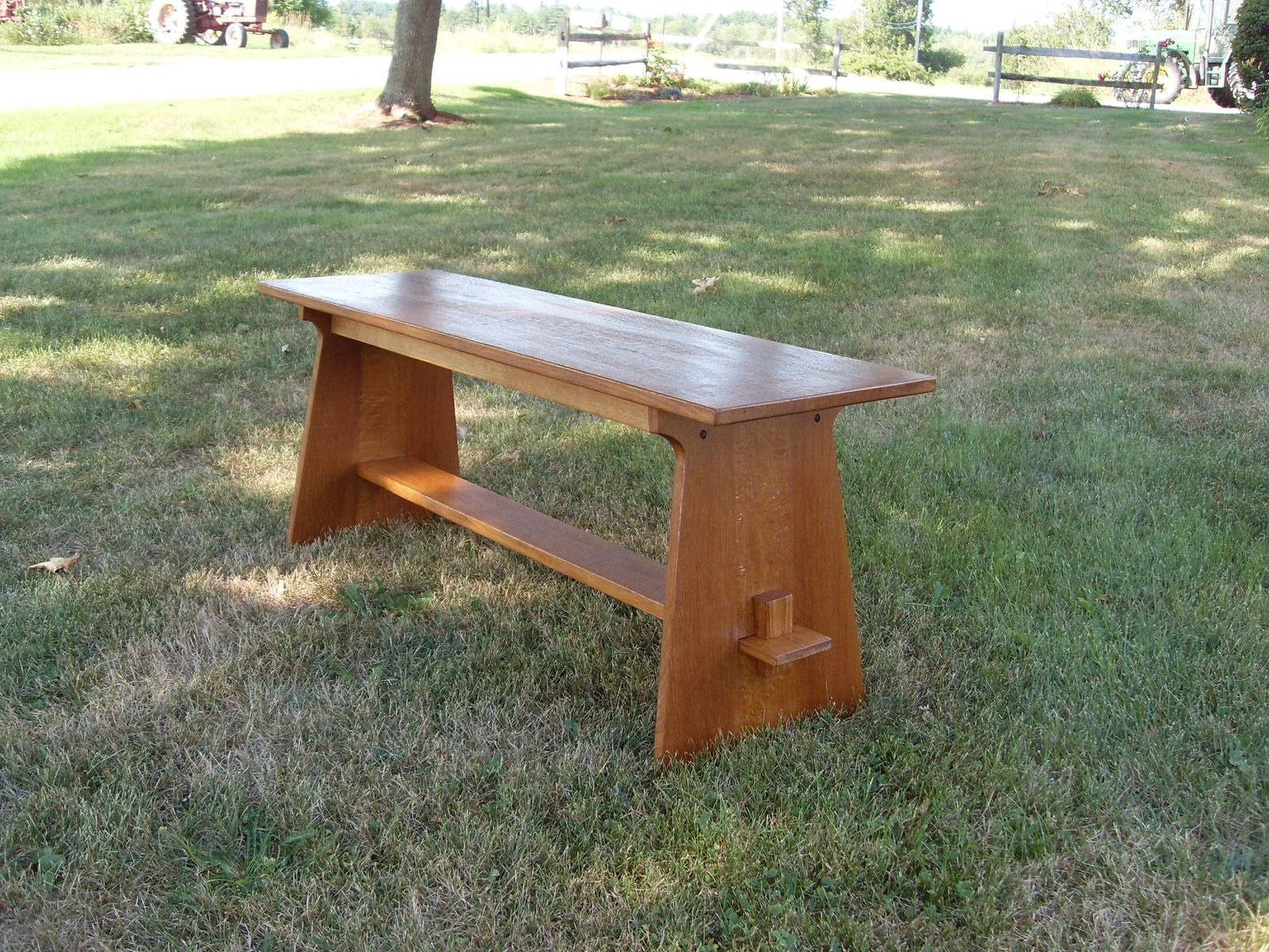 Handmade Mission Style Bench By The Frugal Woodworker