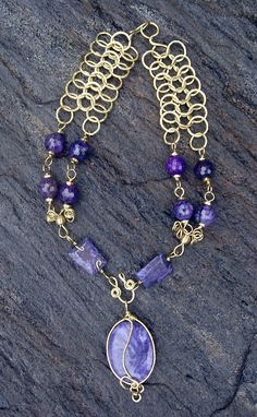 Custom Made Mercedes Benz Fashion Show Purple Passion Necklace