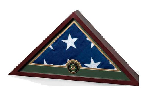 Custom Made Military Frame Military Flag Display Case