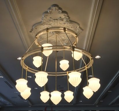 Custom Made Custom Design Aluminum And Brass Chandeliers