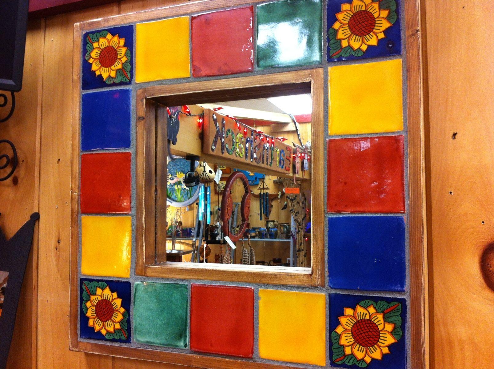 Custom Made Talavera Tile Mirror