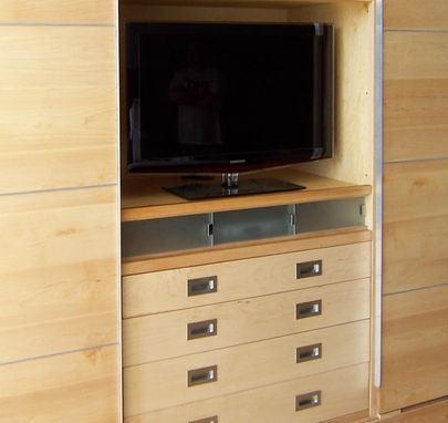 Custom Made Modern Wall Unit Of Maple