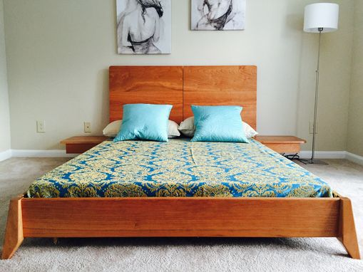 Custom Made Solid Wood Platform Bed