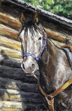 Custom Made Horse Portrait Painting In Pastel, 9 X 6 Inches