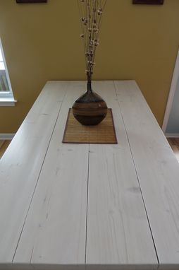 Custom Made Rustic Beachy Farmhouse Harvest Dining Table