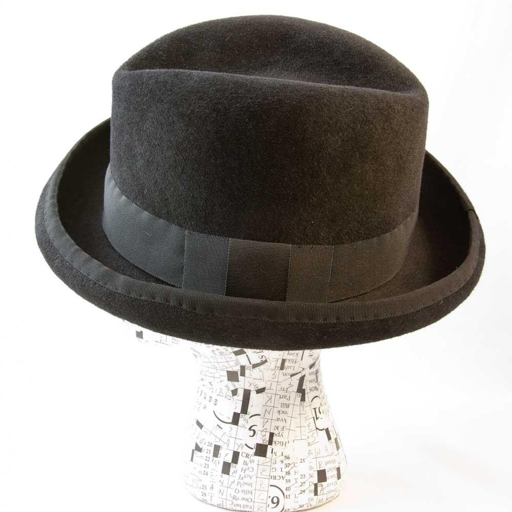 f3a8a86ca6a Hand Crafted Homburg Black Wool Felt Women - Sabrina by Moe Sew Co ...