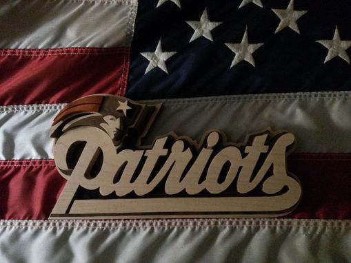 Custom Made Wood New England Patriots Logo