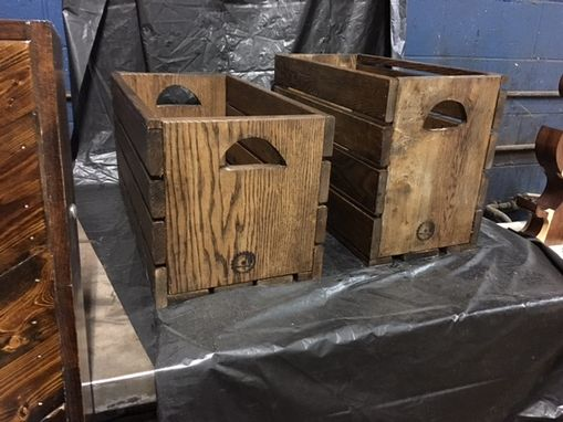 Custom Made Handcrafted Wooden Storage Crate