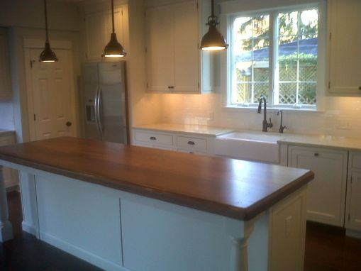 Custom Made Black Walnut Kitchen Island Top