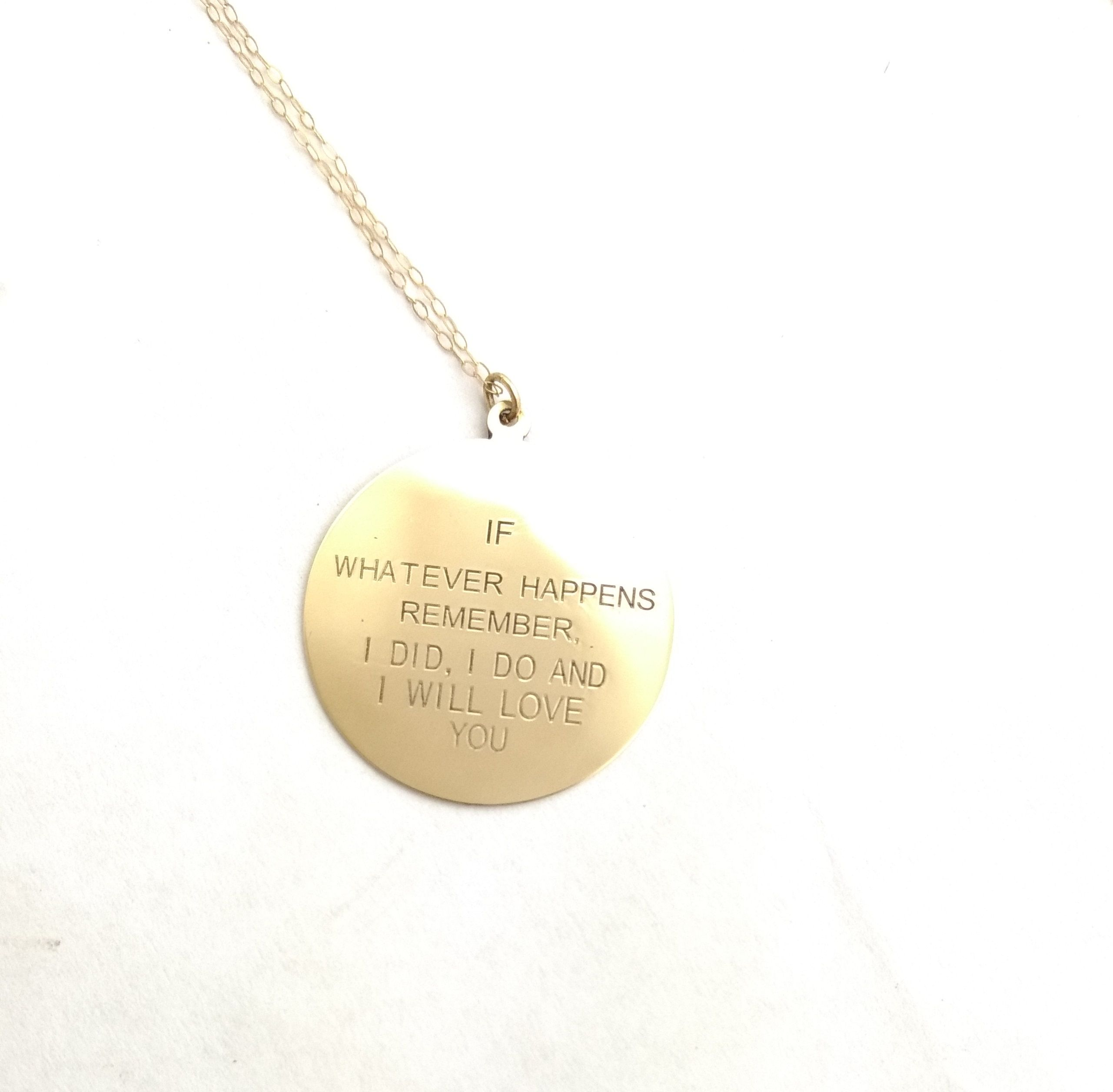 a mercury products name necklace on pendant dime and birthdate silver engraved names