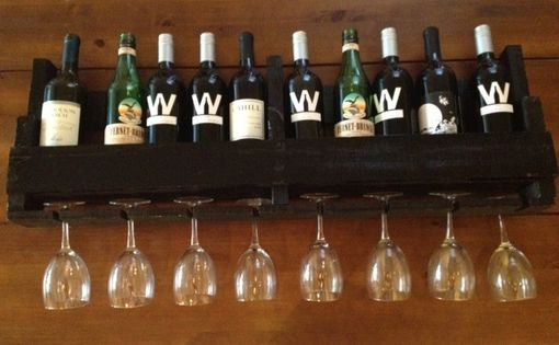 Custom Made Reclaimed Wooden Wine Rack