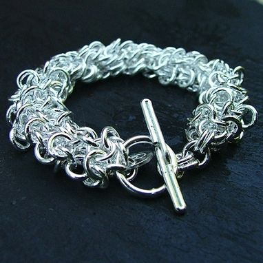 Custom Made Japanese Sterling Silver Chainmail Bracelet
