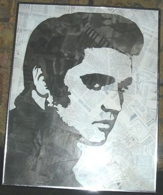 Custom Made Newspaper Elvis