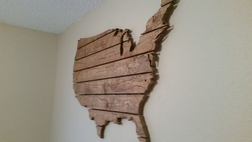 Buy A Hand Crafted Usa Map Large Wooden Wall Art Made To