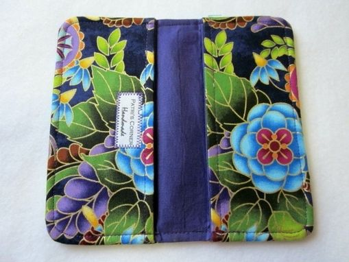 Custom Made Handmade Checkbook Cover Purple Dream