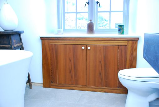 Custom Made Teak Bathroom Storage Cabinet