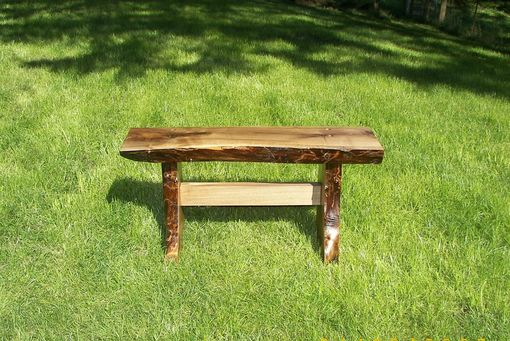 Custom Made Natural Edge Outdoor Garden Bench