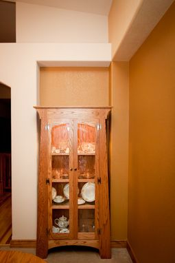 Custom Made Oak China Cabinet