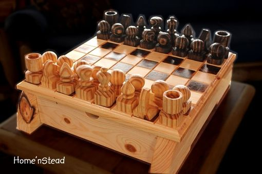 Custom Made Wooden Chess Set