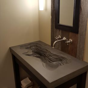 crafted concrete ramp sink by concrete pete 18031