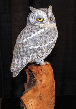 Custom Made Screech Owl Decorative Carving