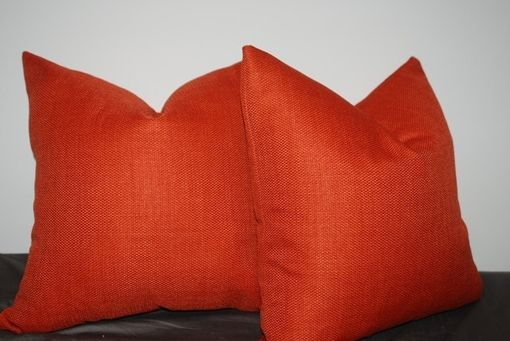 Custom Made Blood Orange Cotton Pillow Cover