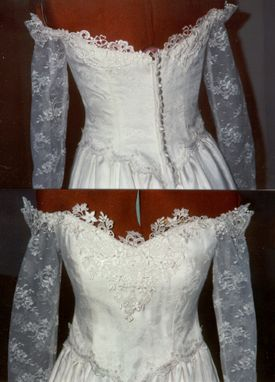 Custom Made Off The Shoulder White Weddidng Gown