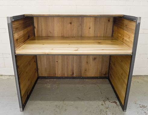 Custom Made Reclaimed Pine Reception Desk/Office Cubicle