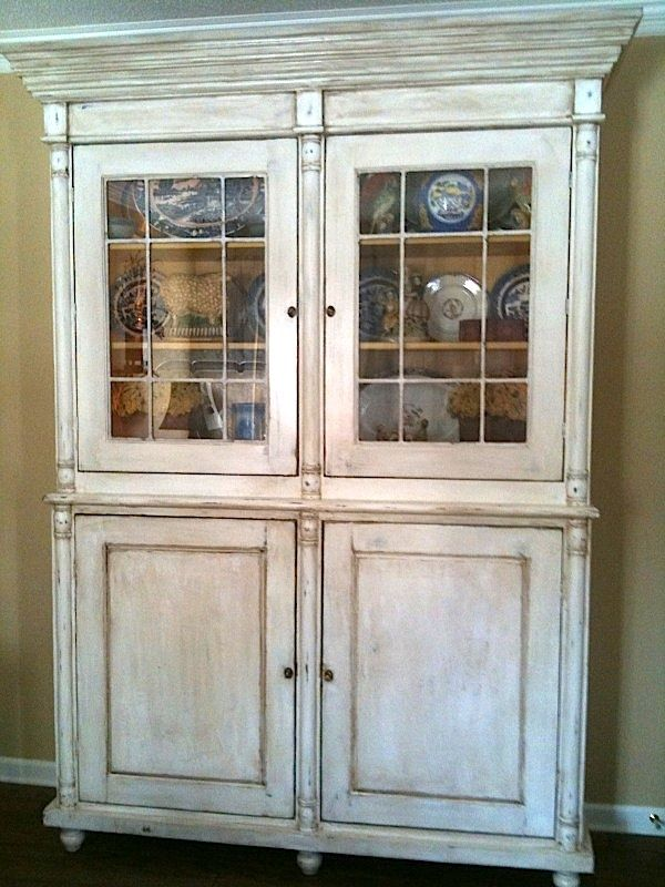 cottage cabinet reveal shabby farmhouse makeover hollow china lights off cc fox white