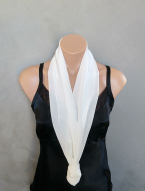 Custom Made Ivory Chiffon Scarf
