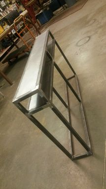 Custom Made Industrial Console Table